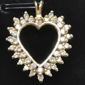 Jewelry - SOLD 14K Gold 1.20CTW Diamond HEART Charm Pendant
